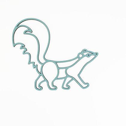 Plintdier - Stinkdier - Naturel, Blauw of Groen