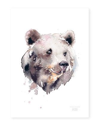 Poster - XS - Brown Bear (13x18 cm)