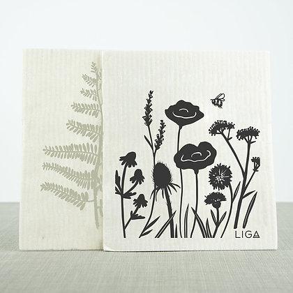 Vaatdoek - Set van 2 - Wildflower/Fern