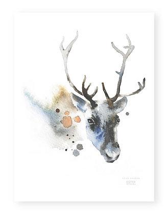 Poster - S - Reindeer (A4, 21x30 cm)