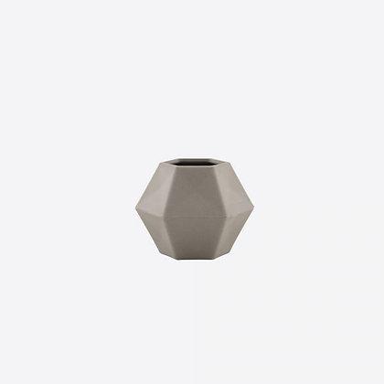 Bamboevezel Vaas / Luchtplanthouder - S - Geometric - Saliegroen of Cementgrijs