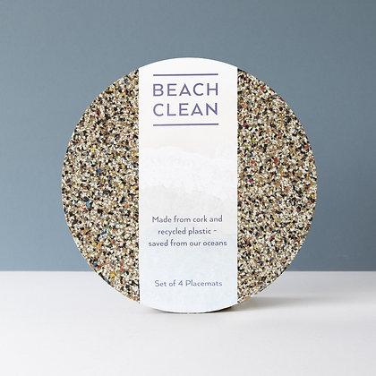 Placemat - Beach Clean - Round - Set van 4