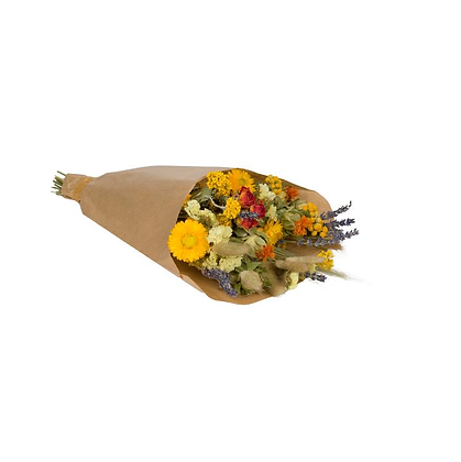 Droogboeket Wildflowers Oranje 35 cm