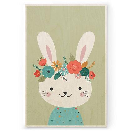 Houten Poster - M - Bunny