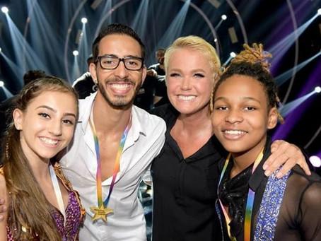 Atleta da seleção brasileira de ginástica participa do Dancing Brasil Junior na Record