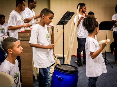 Orquestra Tubônica do Projeto Som+Eu é atração em eventos do Dia do Meio Ambiente
