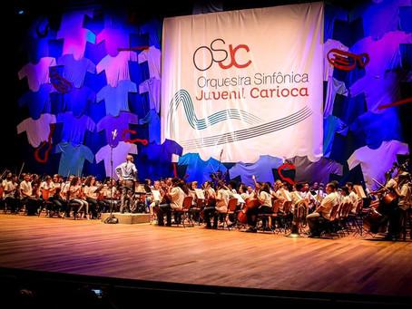 Orquestra Sinfônica Juvenil Carioca apresenta Concerto de Natal no Theatro Net Rio