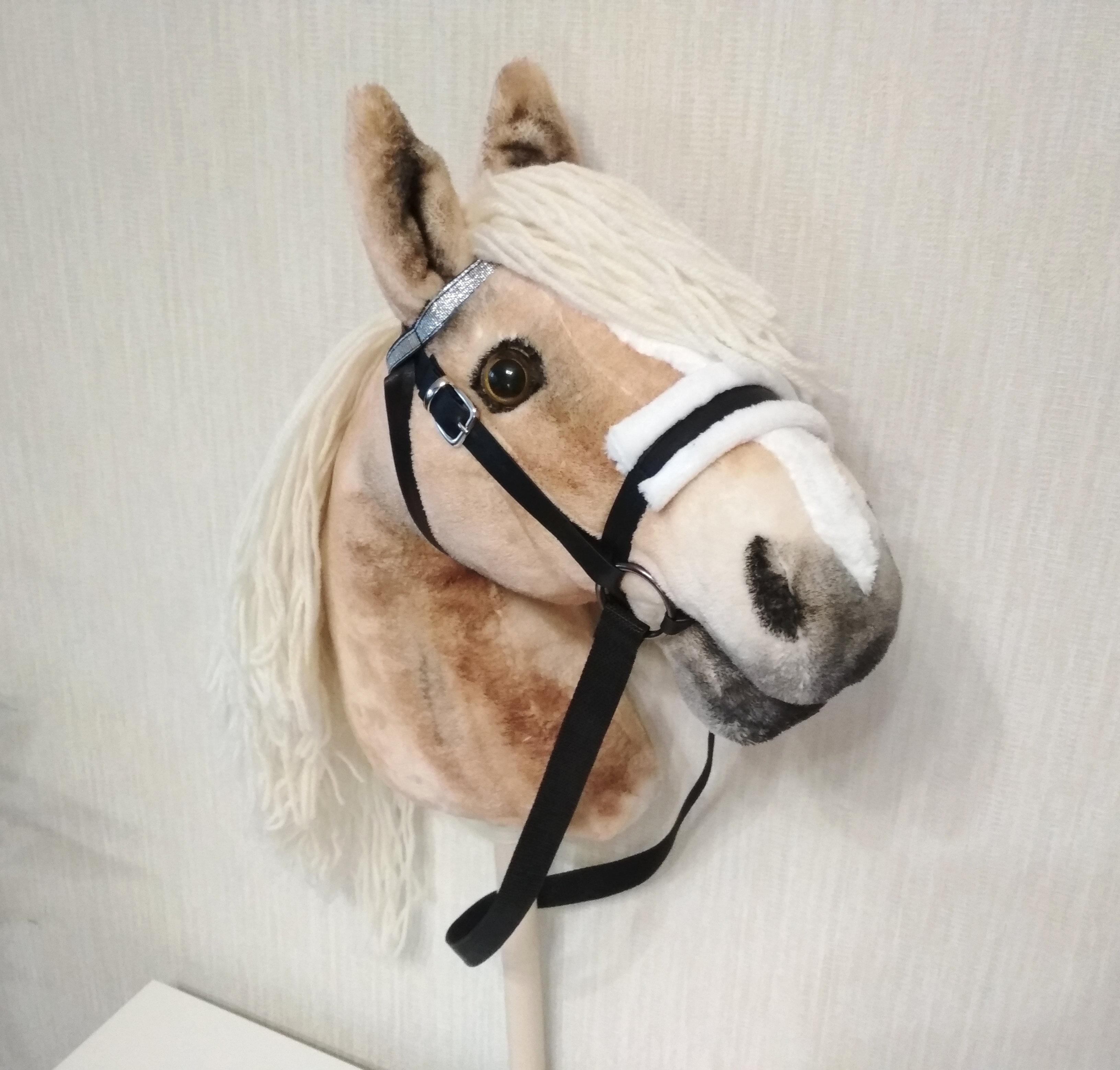 Stick horse for children Realistic Hobby Horse Haflinger Hobby horse