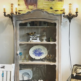 white washed pine cabinet