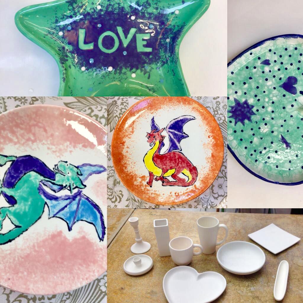composition w dragons, soap bubbles 7 bi