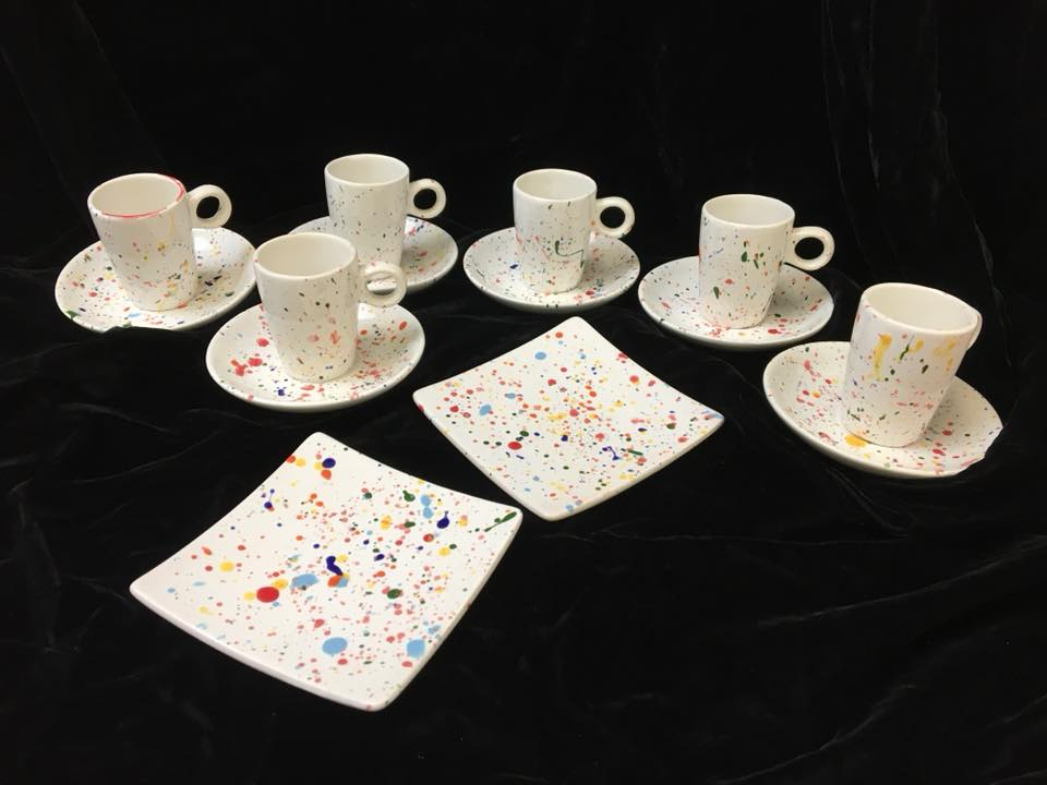 splatter espresso set for 6