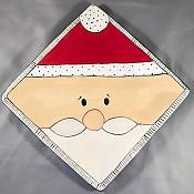 santa on square plate