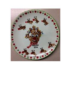santa plate hand finger prints-1