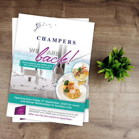 Champers Print Promotion