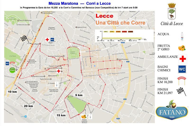 Percorso Corri a Lecce
