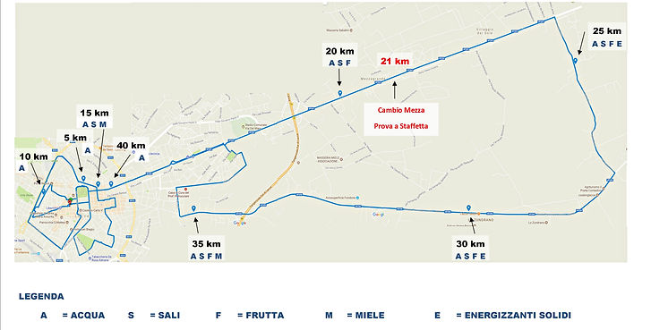 percorso staffetta maratona del barocco