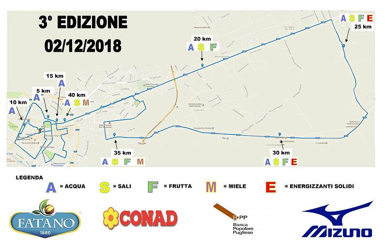 percorso 3° edizione Maratona del Barocco
