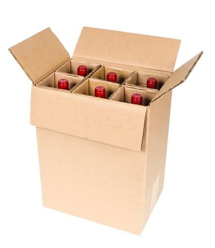 6 Bottle Burgundy - (258 x 165 x 315mm)