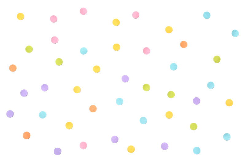 Pastel dot paper cut on white background