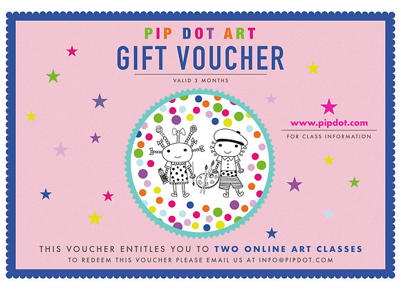 Online Children's Art Class Gift Voucher: Two sessions