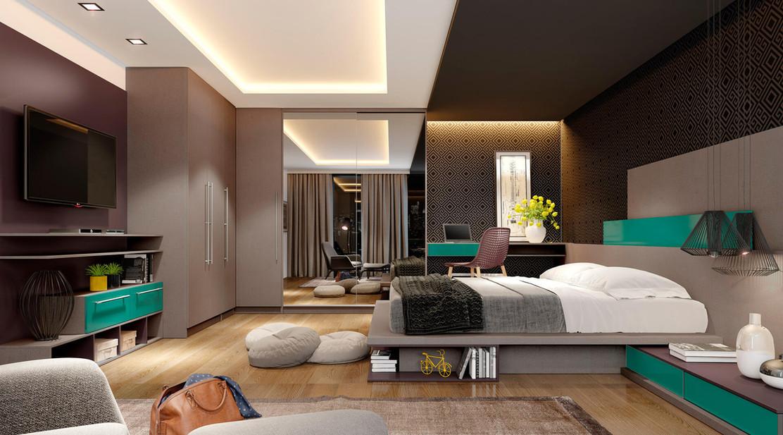 Linha Premium Dormitório Casal Gris