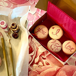 painted macarons with paintbrushes .jpg
