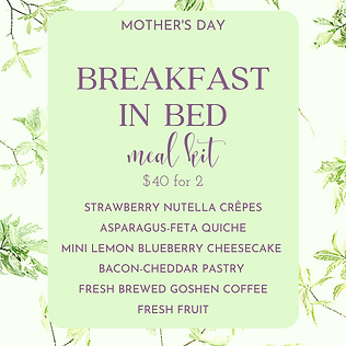 Mother's Day Breakfast in Bed classic $4
