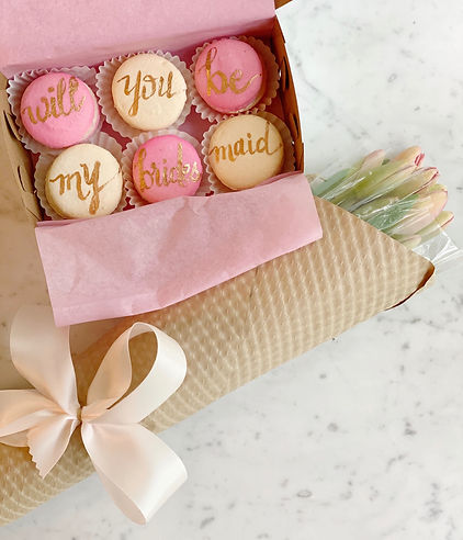 will you be my bridesmaid macarons.jpeg
