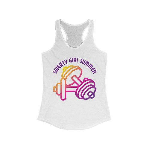 Sweaty Girl Summer Tank- White