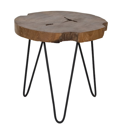NATURA HAIRPIN ACCENT TABLE ROUND