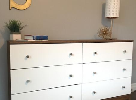 MID CENTURY STYLE DRESSER IKEA HACK