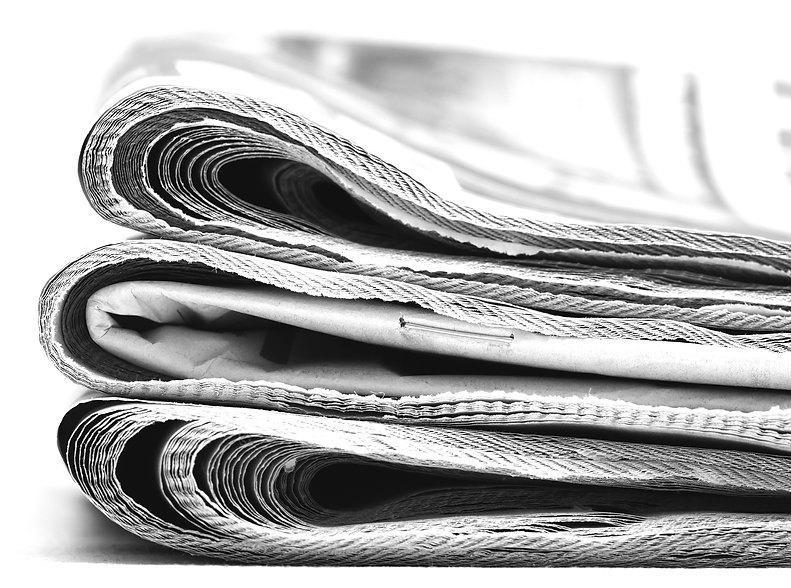 Newspapers. Stack of newspapers. The pil