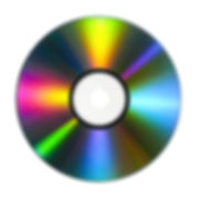 CD or DVD with lots of vivid colors refl