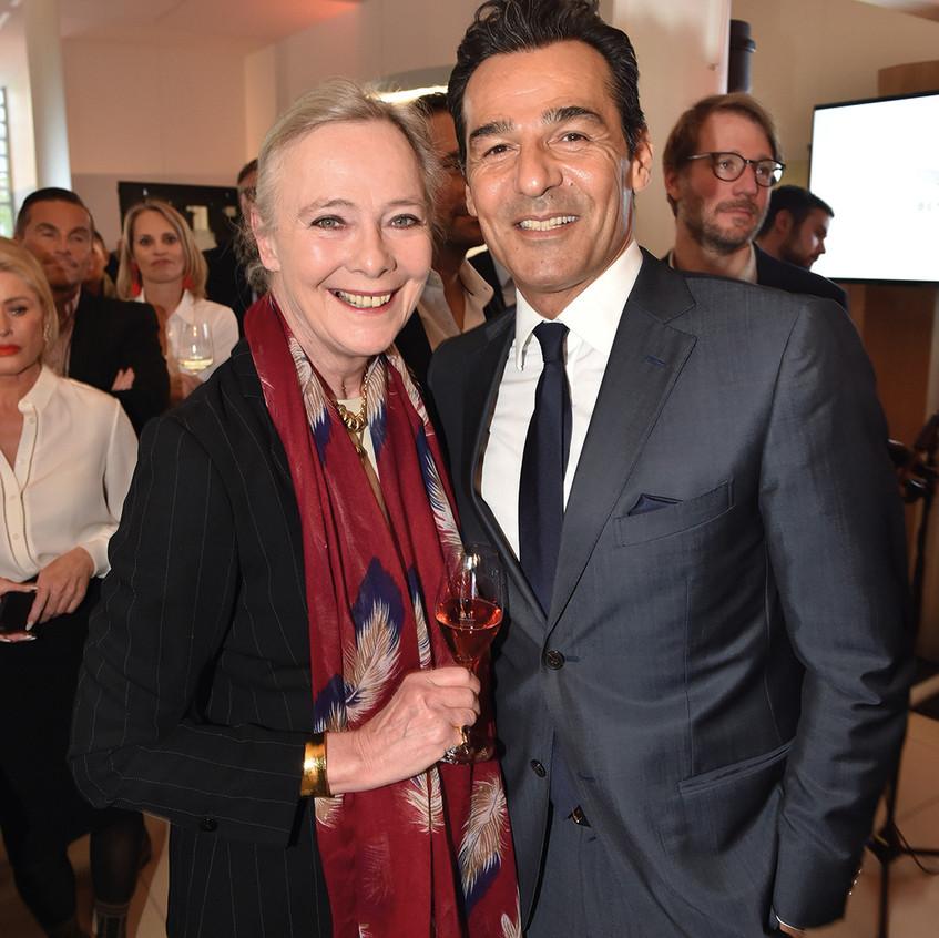 Genossen die Jubiläumsfeier: Ursula Prinzessin zu Hohenlohe- Oehringen und Erol Sander.