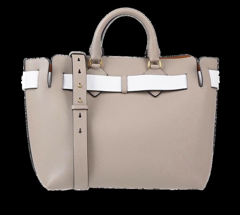 """""""Belt Bag"""" Handtasche in Beige aus 100 Prozent Kalbsleder mit weißtem Gürtel-Detail. Erhältlich über yoox.com für ca. 1.295 Euro."""