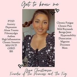 Gina   The Princess and The Fog   Illness and Mental Health Advocate
