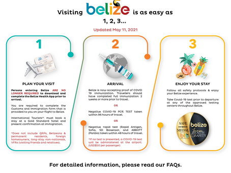 NEW- EFFECTIVE MAY 11, 2021    PLAN YOUR VISIT