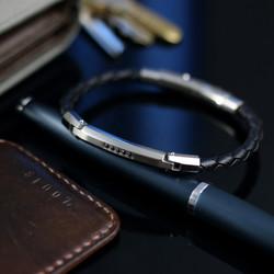 八角紳士真皮手環