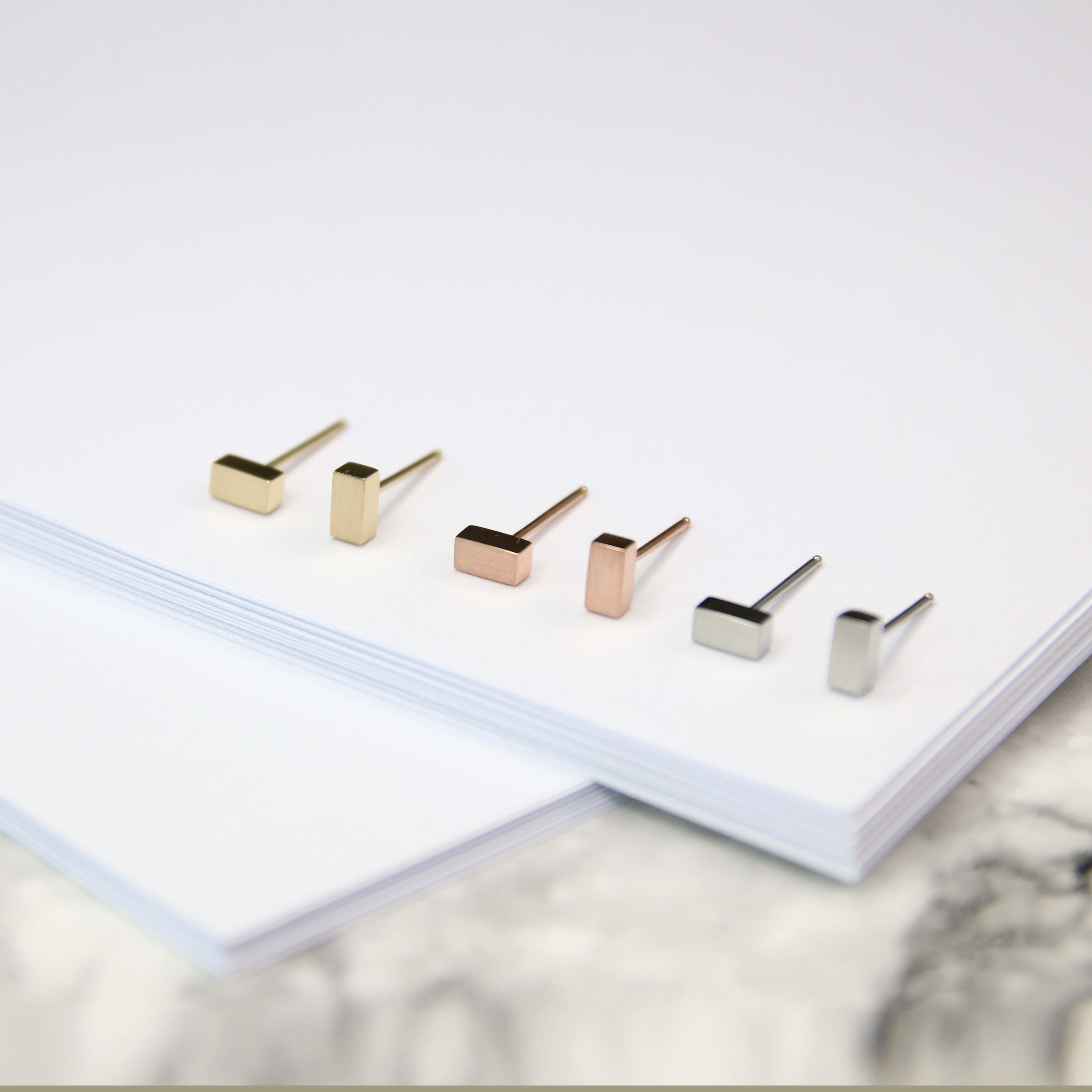 長方型耳釘