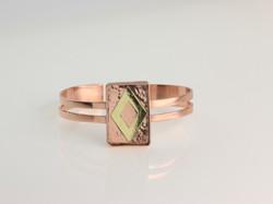 幾何鑲嵌銅手環