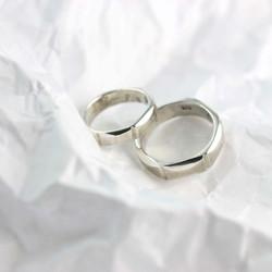 六角 ▏18K金婚戒