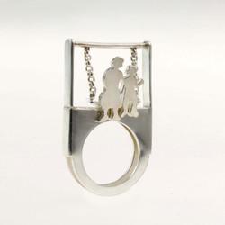 客製鞦韆銀戒指
