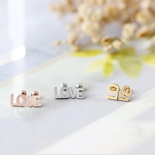 LOVE 耳釘