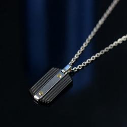 條紋紳士軍牌項鍊