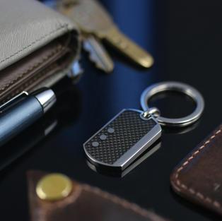 碳纖維軍牌鑰匙圈 I 醫療鋼