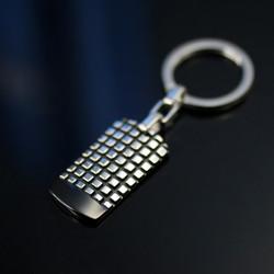 方格紋軍牌鑰匙圈
