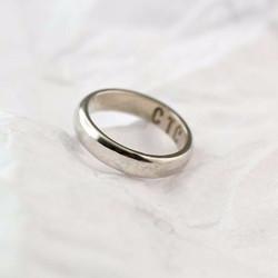 經典圓弧 ▏18K金婚戒