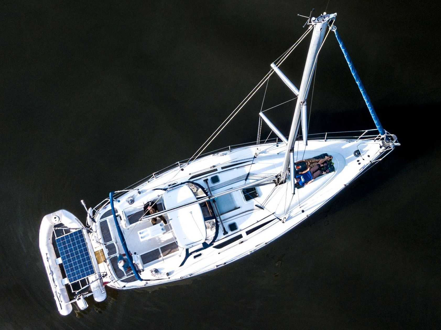 Birds-eye view with Guests on deck