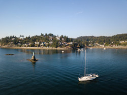 Motoring from Gibsons Harbour 1