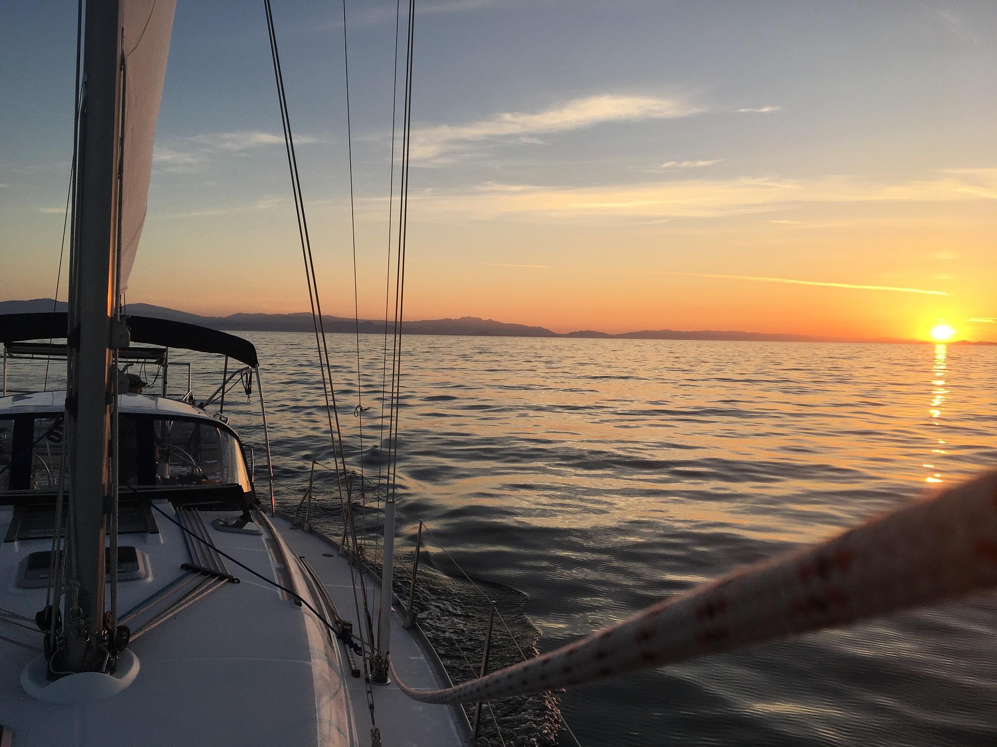 Sunset on the Strait